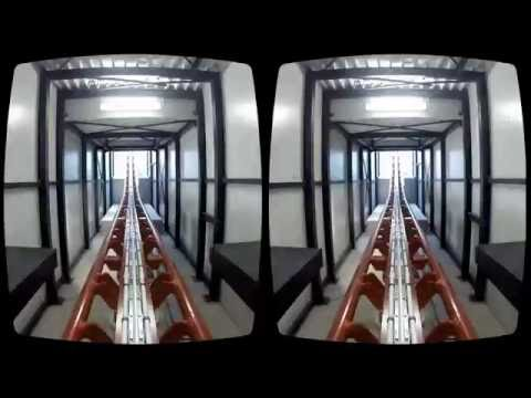 Realistic Roller Coaster in VR Oculus Rift 3D 2016