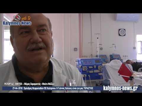 27-04-2018 Πρόεδρος Νεφροπαθών ΠΕ Καλύμνου: Ο Γιάννης Χαλίκος είναι για μας ΤΕΡΑΣΤΙΟΣ