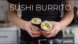 SPICY SUSHI BURRITO REĊIPE | EASY WASABI AVOCADO TOFU MAKI ROLL (スパイシーな寿司ブリトーレシピ)
