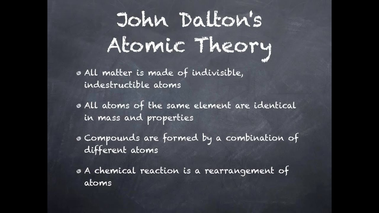 John Dalton atomic theory - YouTube