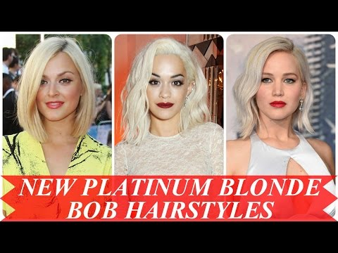 New platinum blonde bob hairstyles