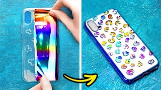 Colorful Phone Decor Crafts For Good Vibes || Cheap And Fantastic DIY Phone Case Ideas