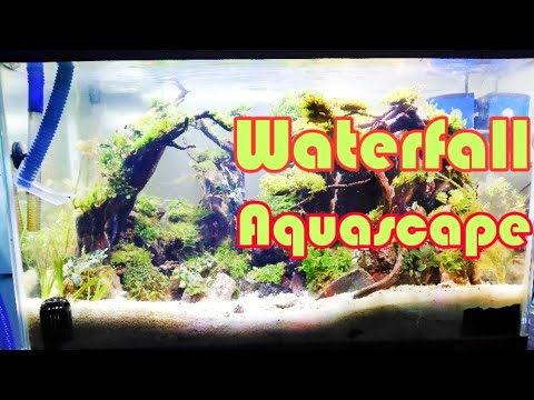 Cara membuat aquascape air terjun pasir - YouTube