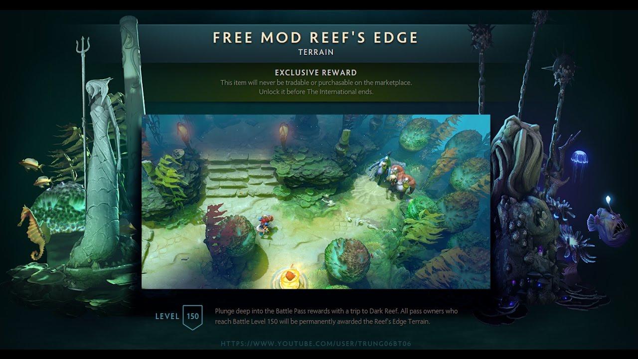 free mod dota 2 terrain reef s edge patch 7 07 youtube