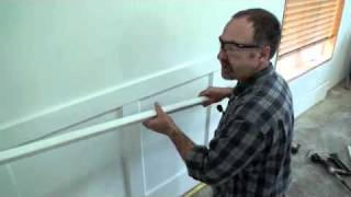 Wall Paneled Wainscoting Kit Installation - Step 10 (top Rail & Cap)
