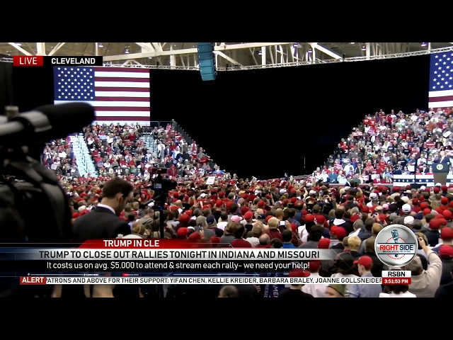 President Trump Rally Draws Big Crowds in Cleveland 11-5-18