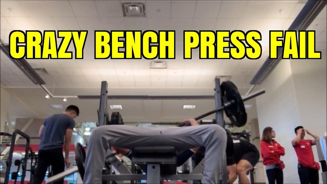 Crazy Bench Press Fail Super Funny Youtube