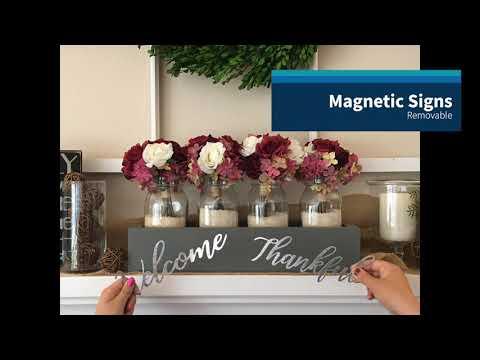 Magnetic Centerpiece Box / Mason Jar Box / Planter Box