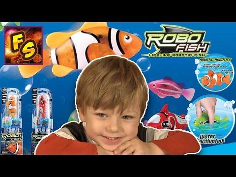 РАСПАКОВКА RoboFish – Роборыбка интерактивная игрушка робот Видео для детей
