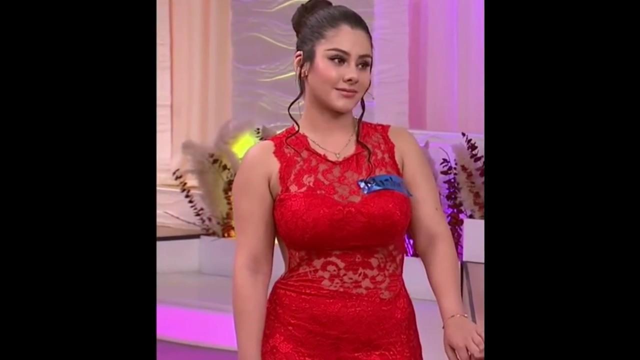 Mishelle en sexy vestido Rojo - Enamorandonos - YouTube