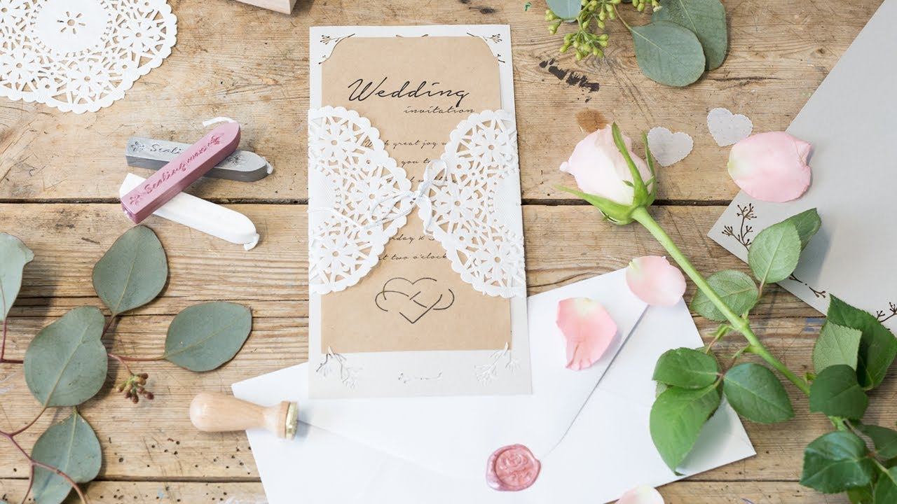 Diy Make Your Own Wedding Invitations By Sostrene Grene Youtube