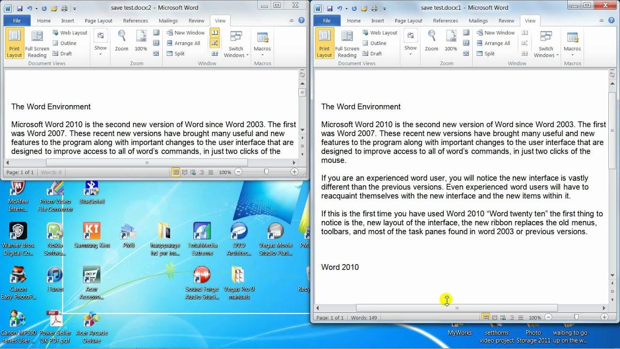 microsoft word 2010 windows 7
