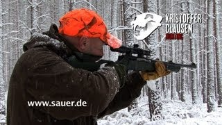Repeat youtube video Kristoffer Clausen on a driven hunt using the Sauer 303