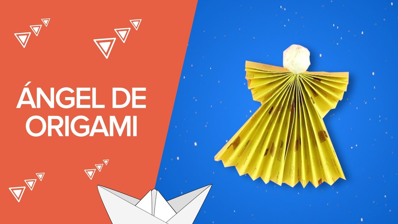 Ngel de origami manualidades navide as con papel youtube - Manualidades con papel ...