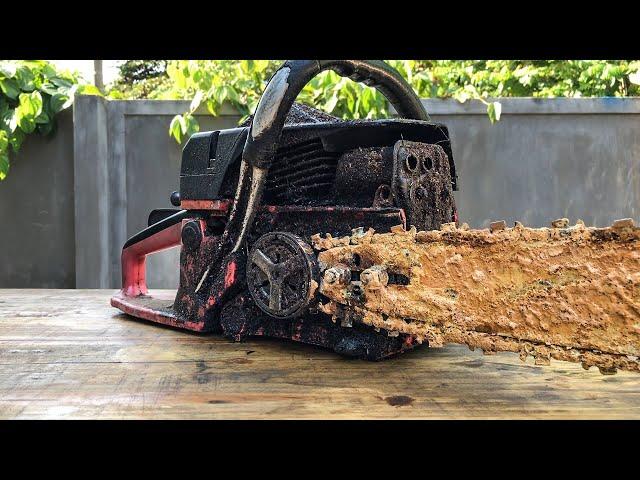 Restoration Chain Saw SHINDAIWA 685   Restorating Chain Saw Rusty