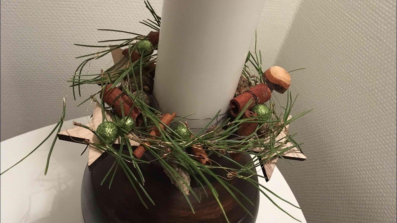 Stroik W Wazonie Z Bambusa Boże Narodzenie