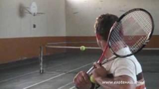 www.exotennis.com Correction apprendre revers à 1 main au tennis