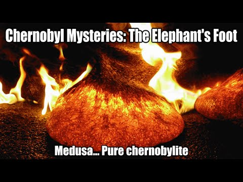 "Chernobyl Mysteries: The Elephant's Foot (aka ""Medusa""... Pure chernobylite)"