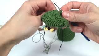 Динозавр крючком. Вязаные игрушки.Вязание для начинающих. Crochet dino.(Урок 1 Голова, мордочка)