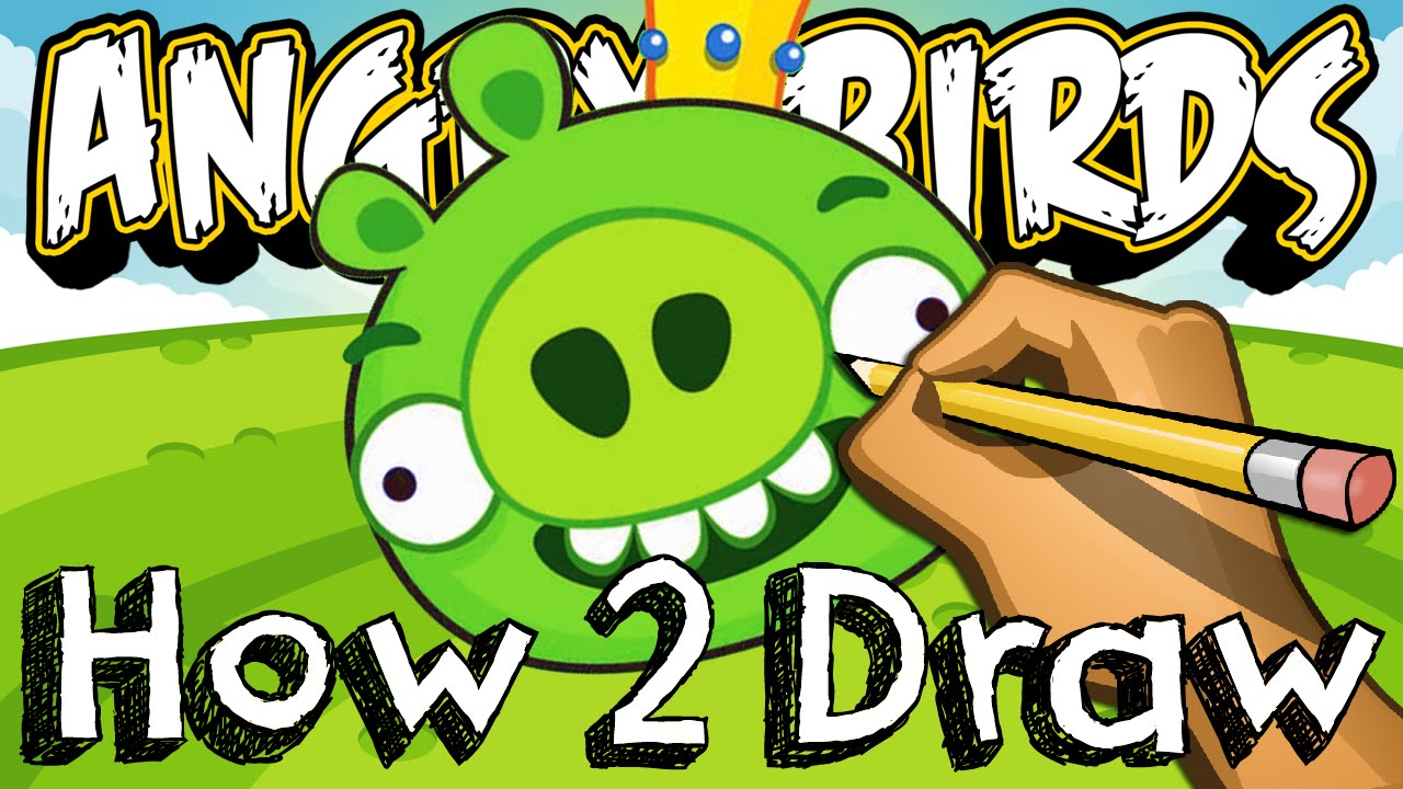 How To Draw The King Pig From Angry Birds