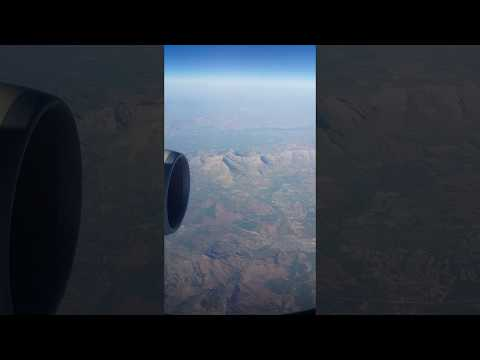 Flying over the Zagros mountains