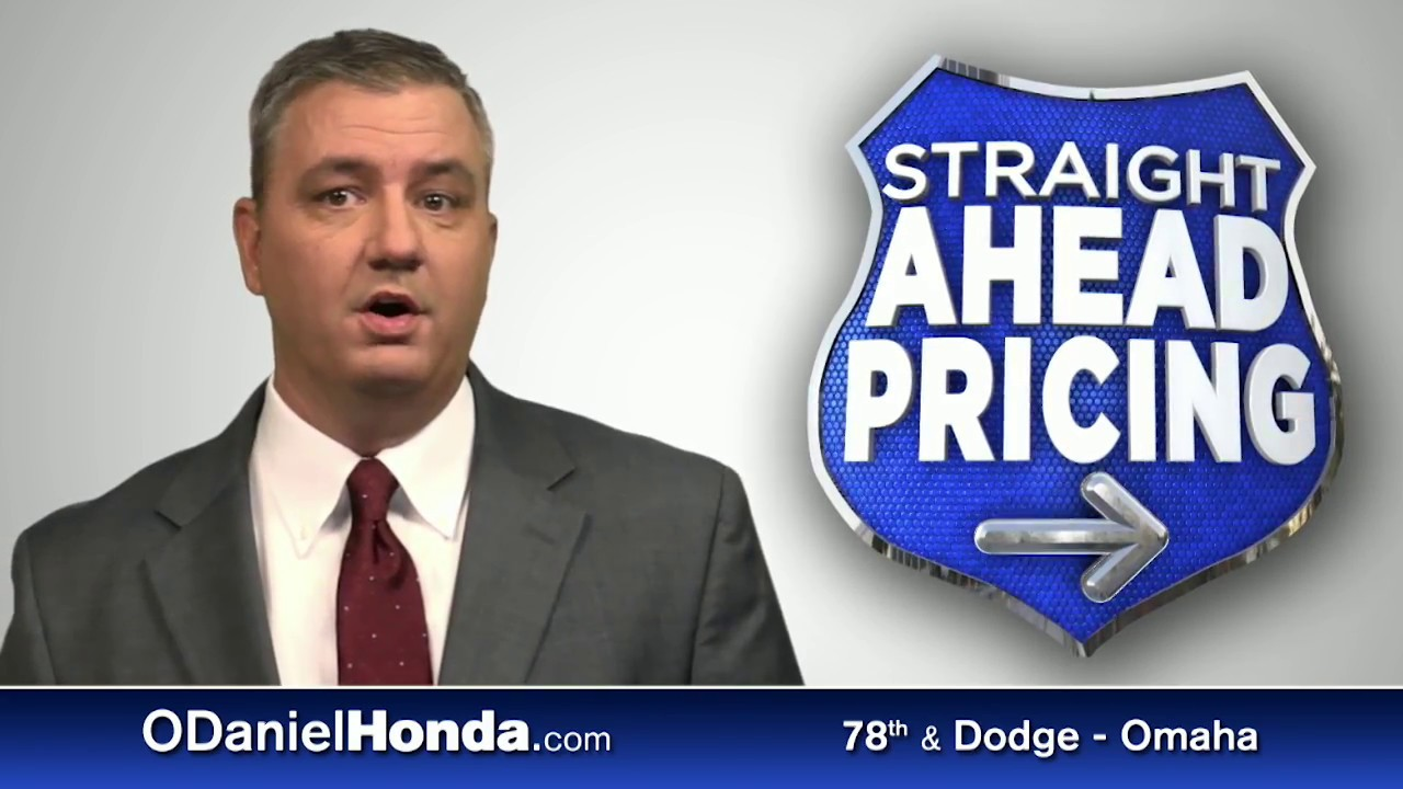 Straight Ahead Pricing at O'Daniel Honda - YouTube