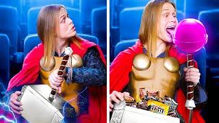 Как пронести еду в кинотеатр! Супергерои в кино!