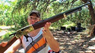 Плач плеча - винтовка Henry в .45-70 | Разрушительное ранчо | Перевод Zёбры