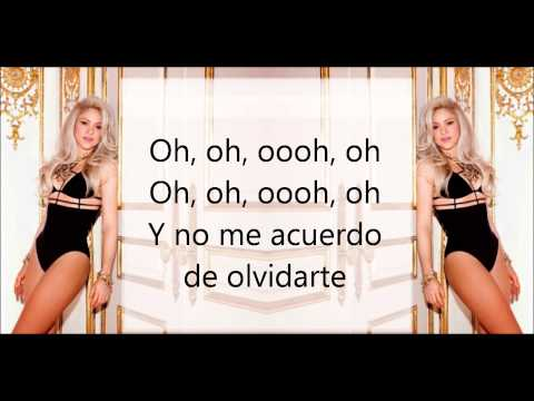 Shakira- Nunca me Acuerdo de Olvidarte letra- [lyrics Letra]