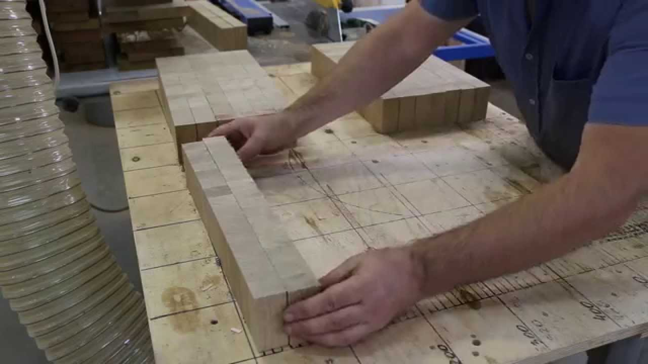 making a large oak end grain cutting board, Kitchen design