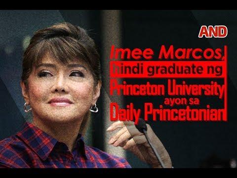 Imee Marcos, hindi graduate ng Princeton University ayon sa Daily Princetonia