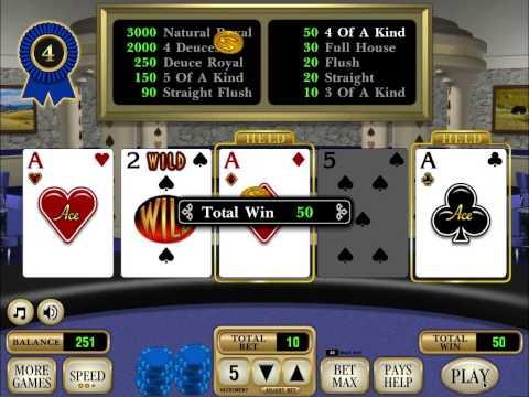 RDI Deuces Wild Poker   iPad casino game