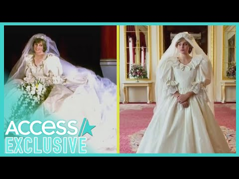 How 'The Crown' Recreated Princess Diana's Iconic Wedding Dress