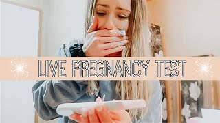 LIVE PREGNANCY TEST|| HAYLEY JANNISE