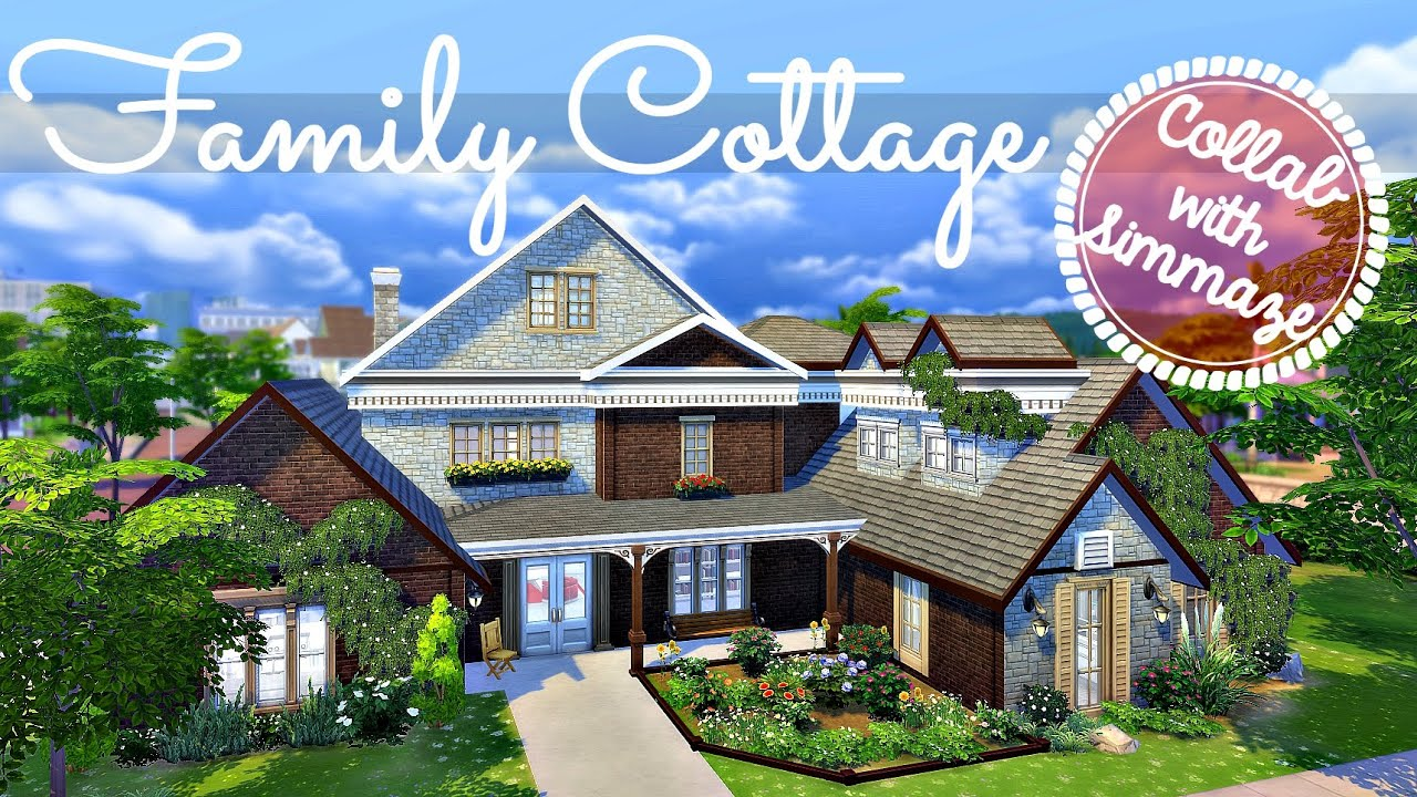 Sims 4 interior design family cottage w simmaze for Family cottages