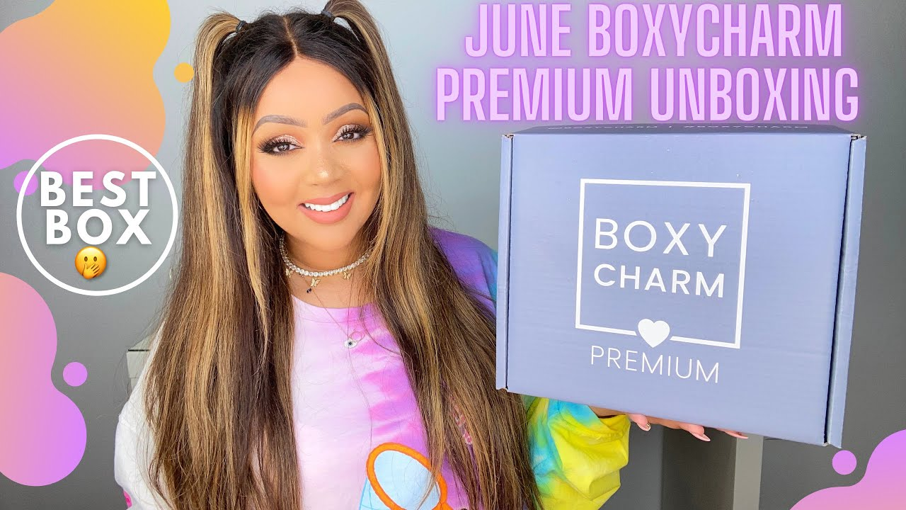 BOXYCHARM JUNE 2021 $35 PREMIUM UNBOXING & TRY-ON   ✨🤭 BEAUTY BOX REVIEW