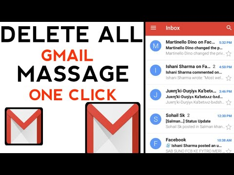 how to delete all gmail inbox massage at once on android
