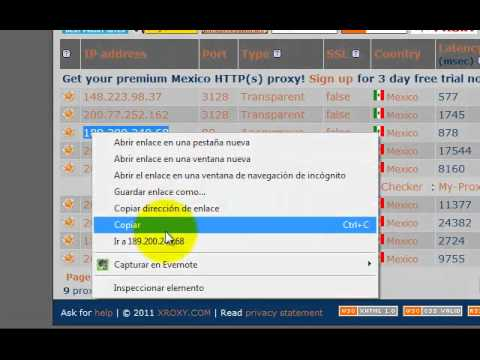 How to set your browser to use a proxy: