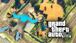 FREE FALLING INTO POOLS CHALLENGE - GTA 5 PC Challenge