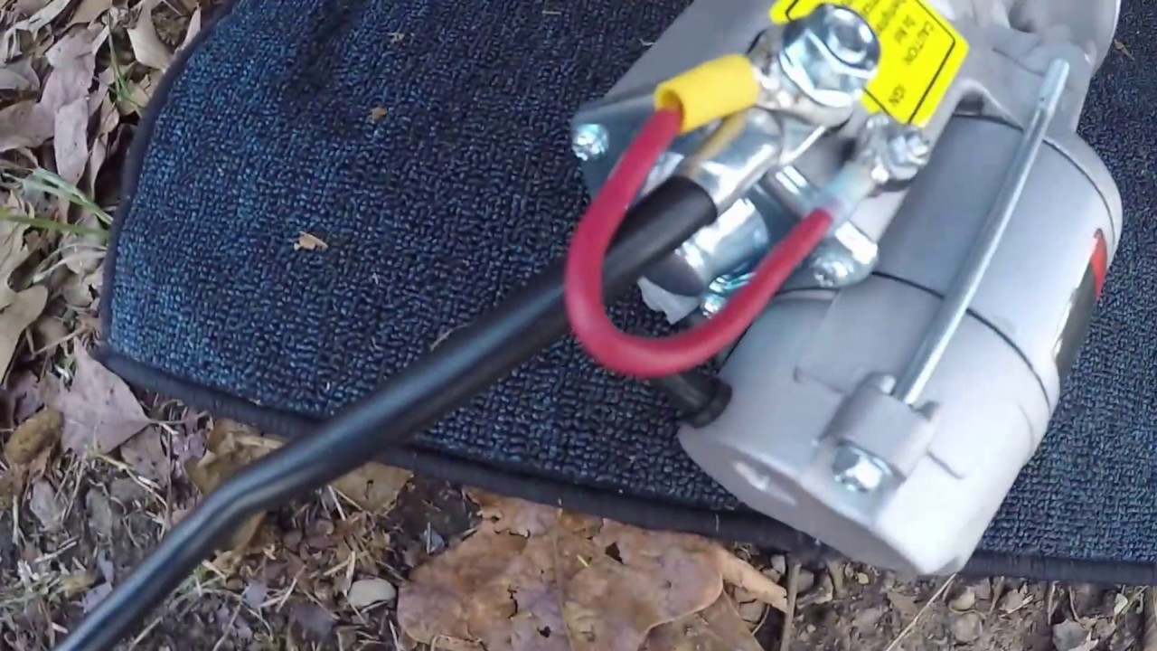 Powermaster Starter Wiring Diagram : Ford powermaster high torque mini starter install youtube