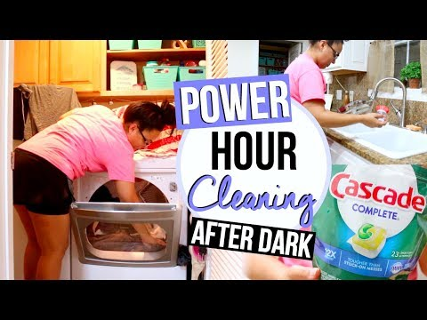 POWER HOUR AFTER DARK | SPEED CLEAN WITH ME 2017 | Page Danielle