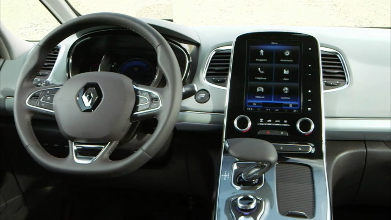 renault espace v 2015 interior youtube. Black Bedroom Furniture Sets. Home Design Ideas
