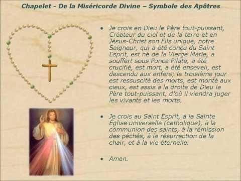 chapelet de la misericorde divine