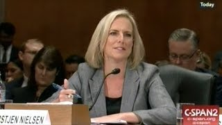 FBI Director And Homeland Security Head Testify On National Security Threats