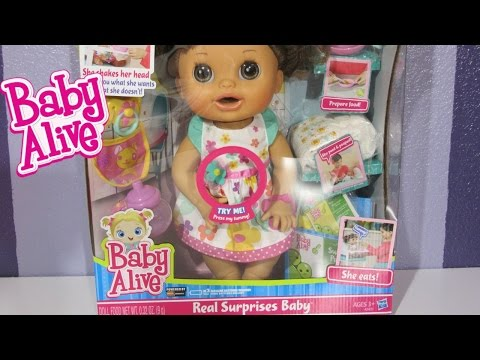 Baby Alive Real Surprises Baby Doll UNBOXING, FEEDING And CHANGING!