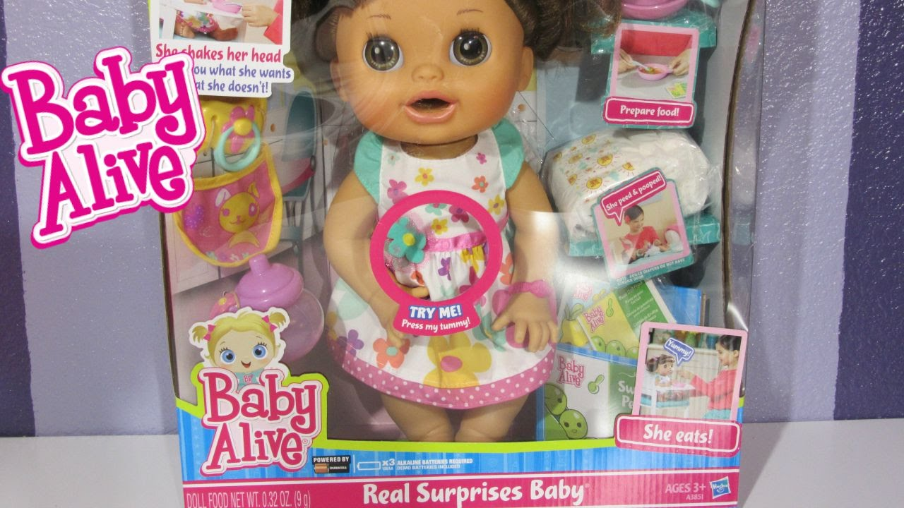 876b2cd4c1 Baby Alive Real Surprises Baby Doll UNBOXING