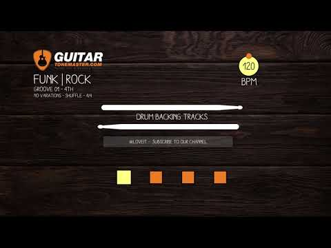 Funk, Rock backing track in the key of - Jamtrack 3421