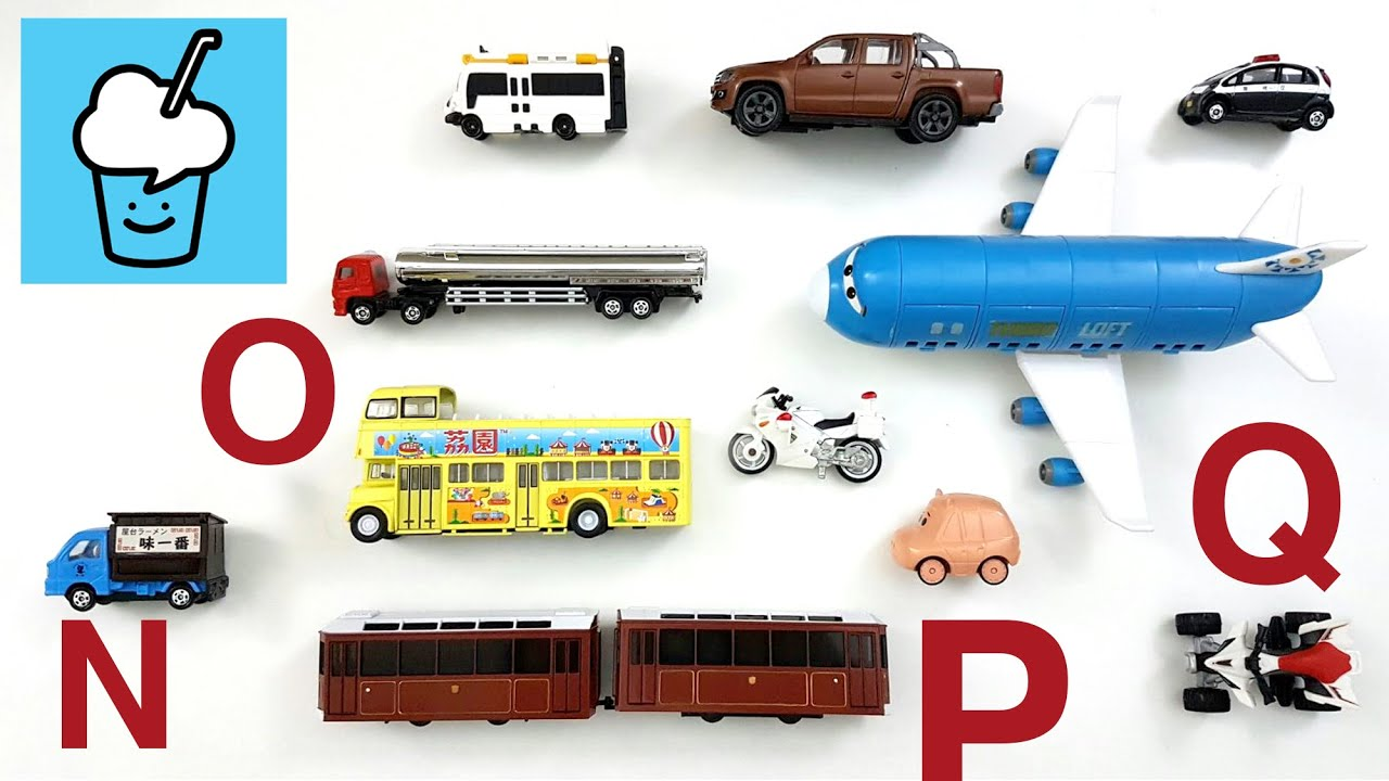 Toys That Start With A : Learning vehicles starting with letter n o p q for kids