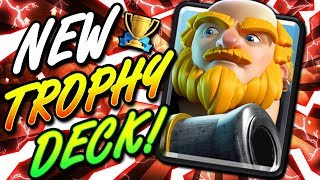UNSTOPPABLE NEW ROYAL GIANT COMBO!! EASY TROPHY DECK!