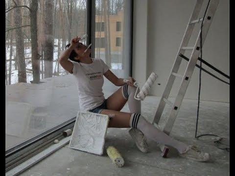 Покраска потолка. Секреты как правильно покрасить потолок./ How to Paint Color on a Ceiling